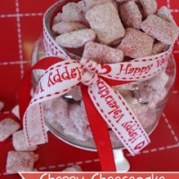 Cherry Cheesecake Muddy Buddies