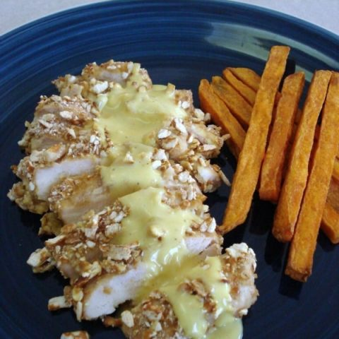 Pretzel Crusted Honey Mustard Chicken