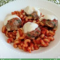 Chicken Parmesan Meatballs with Noodles