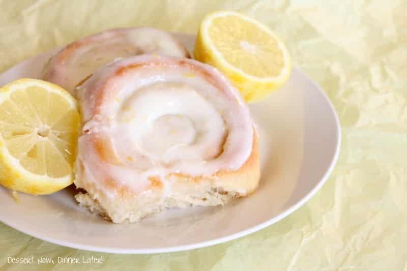 Lemon Sticky Rolls