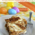Cream Cheese Marbled Carrot Bars