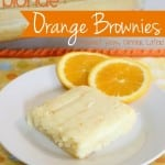 Blonde Orange Brownies