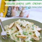 Creamy Pesto & Peas Bowtie Pasta with Chicken