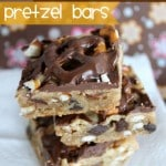 Peanut Butter Chocolate Chip Pretzel Bars