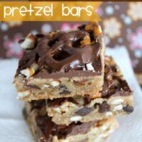 Peanut Butter Chocolate Chip Pretzel Bars