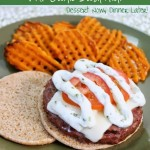 Italian Caprese Burger with Garlic Basil Aioli
