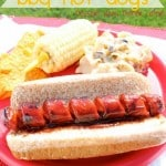 Spiraled BBQ Hot Dogs