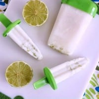 Coconut Key Lime Popsicles