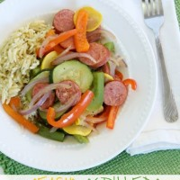 Easy Grilled Summer Vegetables & Sausage
