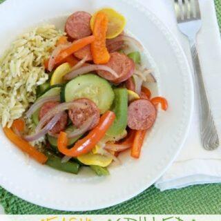Easy Grilled Summer Vegetables & Sausage