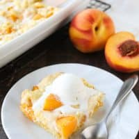 Peaches and Cream Cobbler
