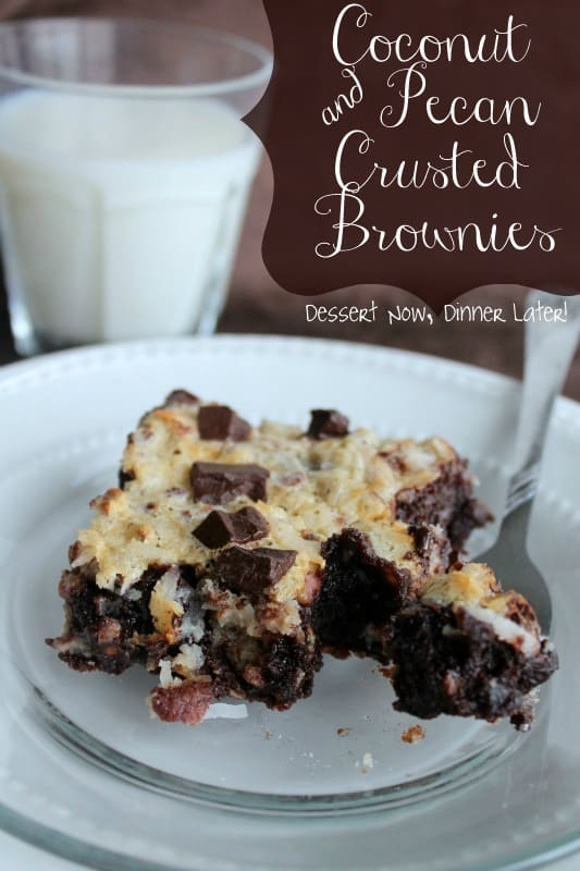 Coconut & Pecan Crusted Brownies1