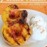 Honey & Cinnamon Grilled Peaches