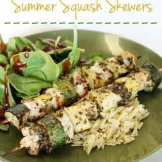Pesto Chicken & Summer Squash Skewers
