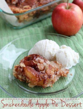 Snickerdoodle Apple Pie