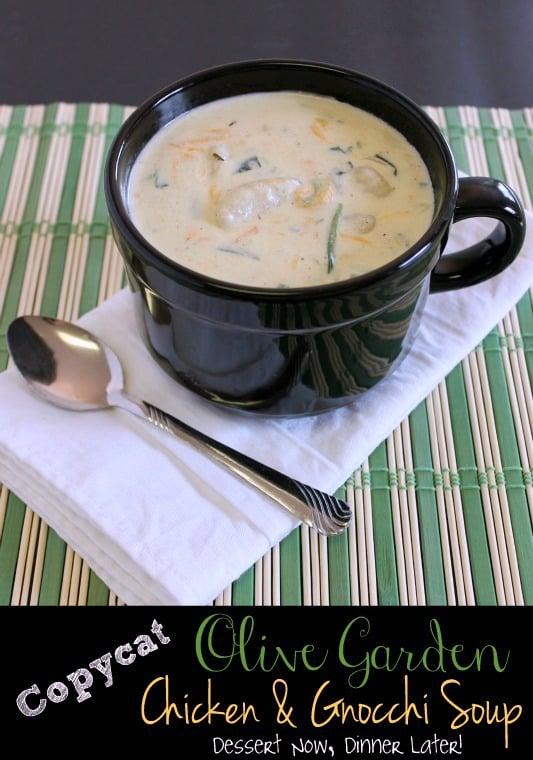 olive garden chicken gnocchi soup - Olive Garden Gnocchi Soup Recipe