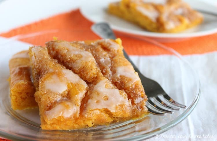 Pumpkin Vanilla Cinnamon Roll Sheet Cake - Dessert Now ...