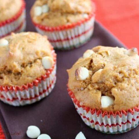 Butterscotch White Chocolate Chip Pumpkin Muffins