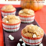 Butterscotch White Chocolate Chip Pumpkin Muffins