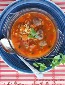 Light Italian Meatball Soup