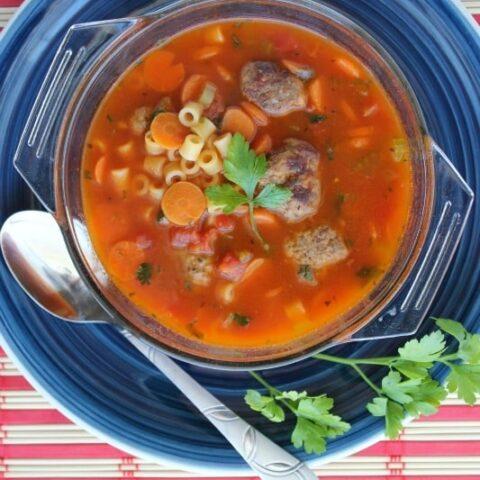 Light Italian Meatball Soup