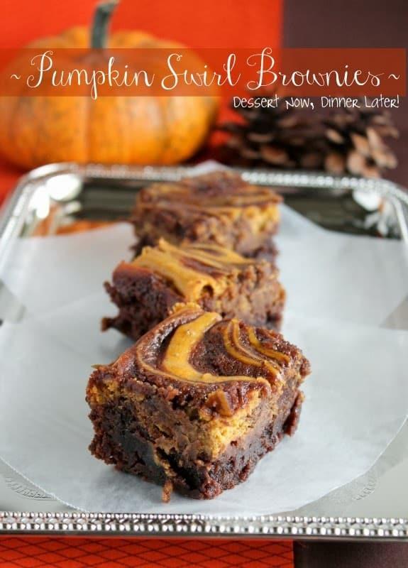 Pumpkin Swirl Brownies recipe