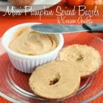 Mini Pumpkin Spiced Bagels & Cream Cheese {Guest Post for Rhodes}