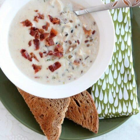 Chicken & Bacon Wild Rice Soup