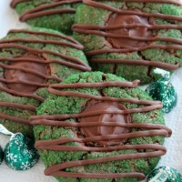 Mint Truffle Thumbprint Cookies