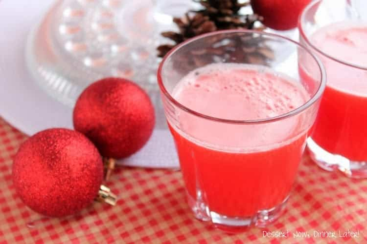 Crimson Christmas Punch - Dessert Now, Dinner Later!