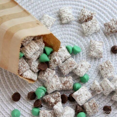 Mint Truffle Muddy Buddies