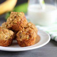 Healthy Banana-Zucchini Mini Crumb Muffins