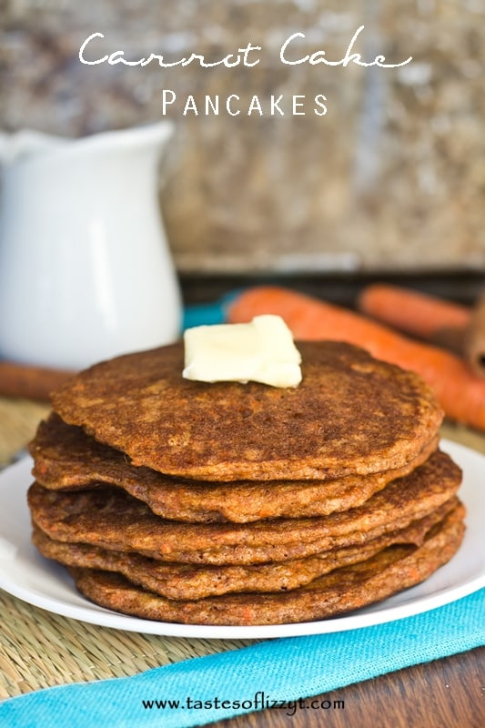 Carrot Cake Pancakes {Tastes of Lizzy T}
