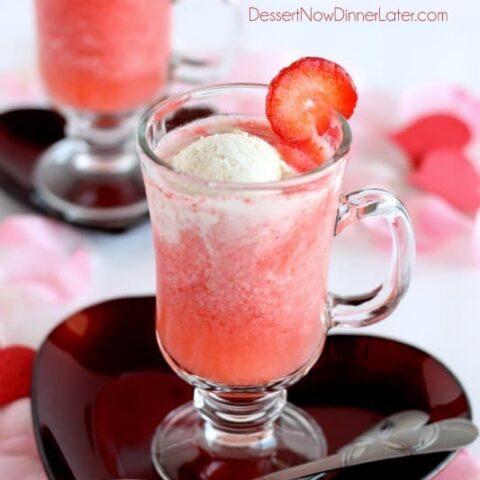 Sparkling Strawberry Float