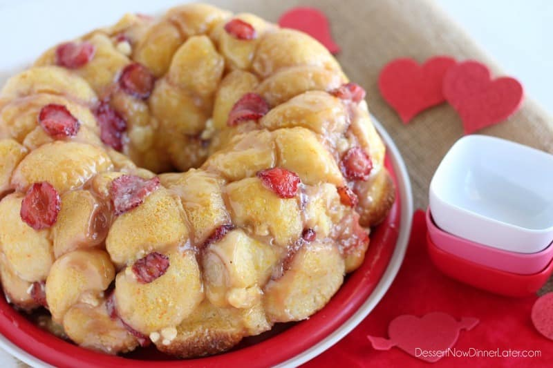 Vanilla Strawberry Monkey Bread1