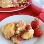 Vanilla Strawberry Monkey Bread