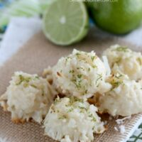 Coconut Key Lime Macaroons