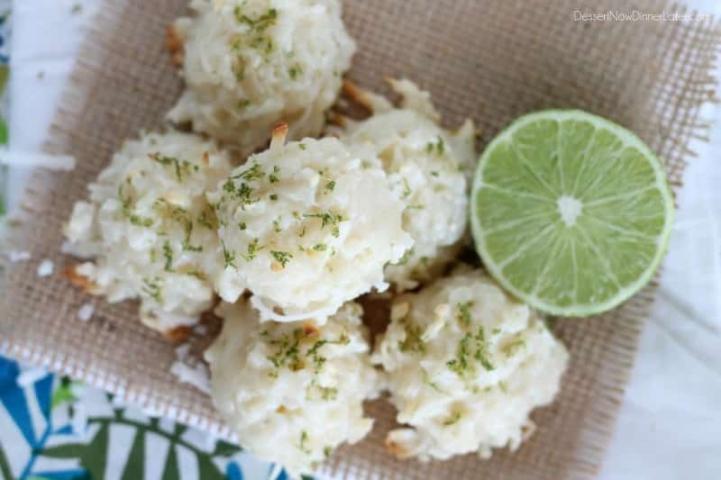Coconut Key Lime Macaroons2