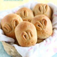 Fluffy Whole Wheat Bunny Rolls