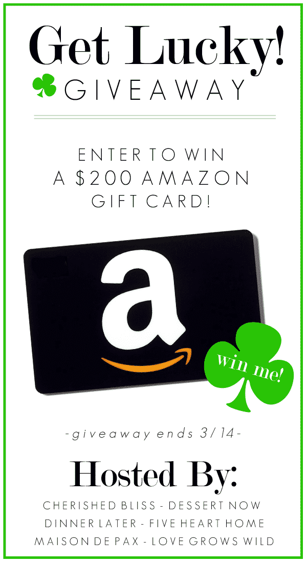 Get Lucky Giveaway! Enter to win a $200 Amazon gift card from the Love Grows Wild creative team!
