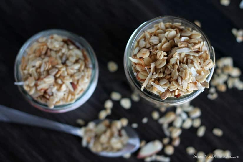 Honey Almond Coconut Granola - Dessert Now, Dinner Later!