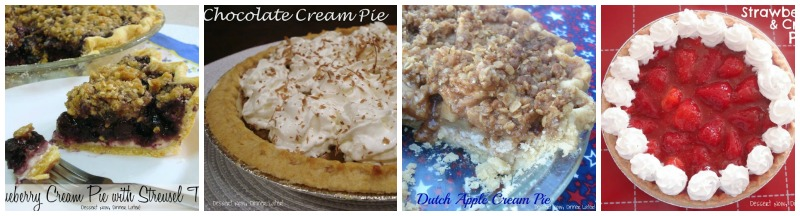 ... Topping | Chocolate Cream Pie | Dutch Apple Cream Pie | Strawberries