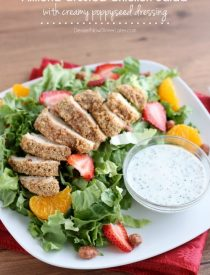 Almond Crusted Chicken Salad with Creamy Poppyseed Dressing