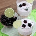 Blueberry Lime No Bake Cheesecake Cups