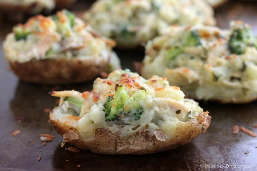 Chicken and Broccoli Stuffed Twice Baked Potatoes