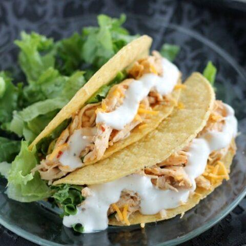 Crockpot Chicken Ranch Tacos