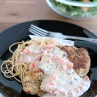 Herb Crusted Chicken with Tomato Cream Sauce