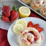 Lemon Strawberry Sweet Rolls
