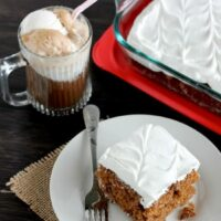 Root Beer Float Poke Cake