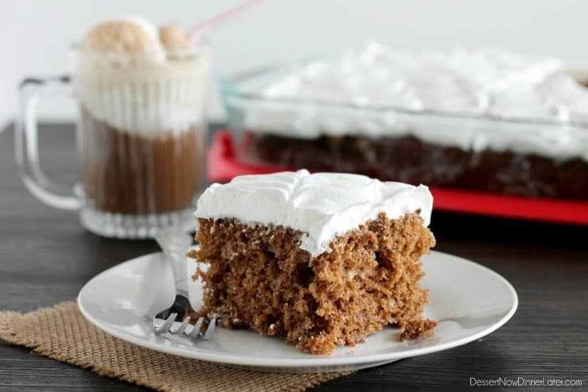 Root Beer Float Poke Cake - Dessert Now, Dinner Later!